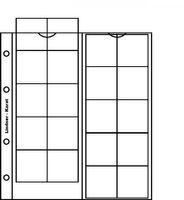 Нумизматические листы системы Кarat для размещения 20 монет диаметром до 38 мм, в комплекте с белым листом-прокладкой. Упаковка 5 штук