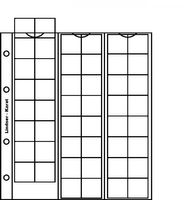 karat-Münzblätter 48 Münzen bis 22 mm Ø, inkl. Zwischenblatt weiß, 5er- Packung