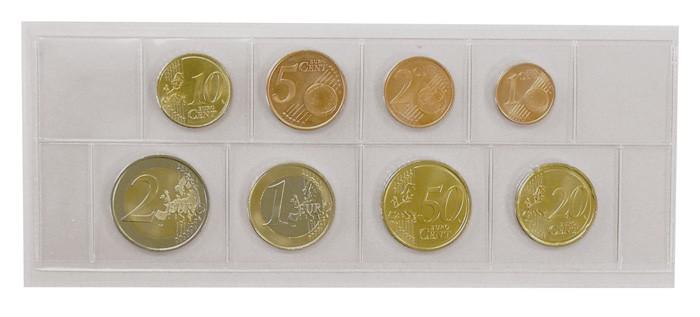 a69f69be7f Buste in pellicola trasparente in PVC rigido per una serie di monete Euro  in corso,