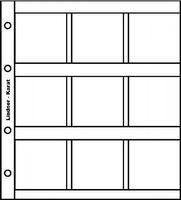 karat-Münzblätter für 9 Münzrähmchen 50 x 50 mm, inkl. Zwischenblatt rot, 5er- Packung