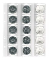 Multi collect coin pages for 15 coins  up to 42 mm  diameter, interleaving red,pack of 5 – Bild 3