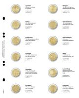 """Multi collect"" Illustrated page for 2 EURO-Commemorative coins: Spain 2013 - Finland 2013"