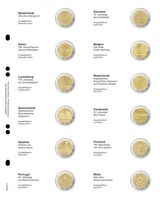 """Multi collect"" Illustrated page for 2 EURO-Commemorative coins: Netherlands 2013 - Malta 2014"