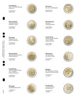 """Multi collect"" Illustrated page for 2 EURO-Commemorative coins: Luxembourg 2006 - France 2008"