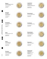 """Multi collect"" Illustrated page for 2 EURO-Commemorative coins: Belgium 2012 - Netherlands 2013"