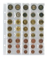 """Multi collect"" coin pages for 5 EURO coin sets with each 8 coins, black interleaving - pack of 5 – Bild 3"