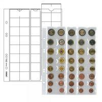 Multi collect Münzblätter für 5 Euro-Kursmünzensätze mit je 8 Münzen, Zwischenblätter schwarz, 5er-Packung – Bild 1