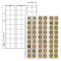 """Multi collect"" coin pages for 54 coins up to 20 mm Ø, red interleaving - pack of 5 – Bild 1"