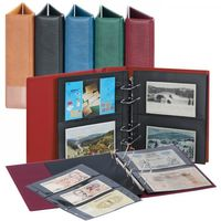 Multi Collect Collecting Album for  Photos/pst cards/bank notes available with 20 divided,foil pages which can be used on both sides.Storage capacity up to 80 documents-light brown