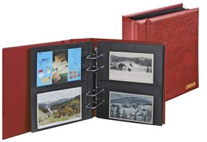 Multi Collect Collecting Album for Photos/post cards/bank notes available with 20 devided foil pages which can be used on both sides.Storage capacity up to 80 documents-wine red – Bild 1
