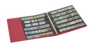 PUBLICA M COLOR Stockpage album for stamps with 10 pages that can be filled from both sides, two variations, Berry (red) – Bild 3