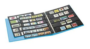 PUBLICA M COLOR Stockpage album for stamps with 10 pages that can be filled from both sides, two variations, Nautic (blue) – Bild 4
