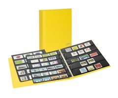PUBLICA M COLOR Stockpage album for stamps with 10 pages that can be filled from both sides, two variations, Solino (yellow) – Bild 1