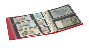 "PUBLICA M COLOR Banknote Album with 10 double-sided ""Multi collect"" pages in 2 different layouts, Berry (red) – Bild 4"