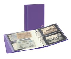 "PUBLICA M COLOR Banknote Album with 10 double-sided ""Multi collect"" pages in 2 different layouts, Viola (purple) – Bild 1"