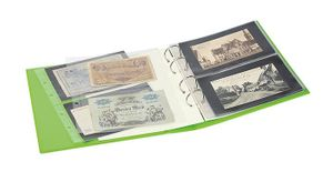 "PUBLICA M COLOR Banknote Album with 10 double-sided ""Multi collect"" pages in 2 different layouts, Spring (green) – Bild 5"