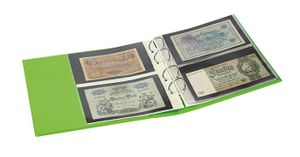 "PUBLICA M COLOR Banknote Album with 10 double-sided ""Multi collect"" pages in 2 different layouts, Spring (green) – Bild 3"