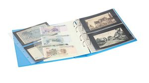 "PUBLICA M COLOR Banknote Album with 10 double-sided ""Multi collect"" pages in 2 different layouts, Nautic (blue) – Bild 3"