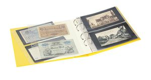 "PUBLICA M COLOR Banknote Album with 10 double-sided ""Multi collect"" pages in 2 different layouts, Solino (yellow) – Bild 3"