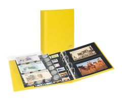 PUBLICA M COLOR Universal album for Postcards, Photos with 10 divided pages, which can be filled from both sides, Solino (yellow) – Bild 1