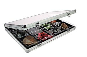 Aluminum Display Case with 12 compartments 87 x 90 mm