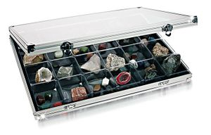 Aluminum Display Case with 24 compartments 68 x 58 mm