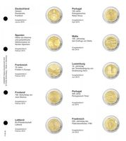 Illustrated page for 2 EURO commemorative coins : Germany 2015 - France 2015