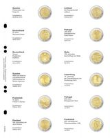 """Multi collect"" Illustrated page for 2 EURO-Commemorative coins: Spain December 2014 - France July 2015"