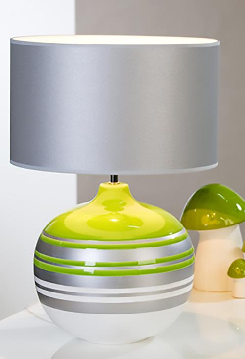 lampe orlando 52 cm wei gr n silber. Black Bedroom Furniture Sets. Home Design Ideas