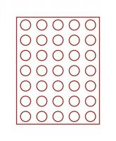 Velour insert dark red, 2704E (Ø 31 mm) – Bild 2