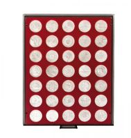 Velour insert dark red, 2711E (Ø 32,5 mm) – Bild 2