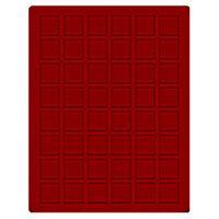 Velourseinlage, dunkelrot, mit 48 quadratischen Fächern für Münzen/Münzkapseln bis Ø28 mm  – Bild 1