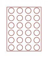 Velourseinlage, dunkelrot, mit 24 runden Vertiefungen für Münzen mit Ø41 mm  – Bild 2