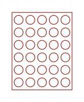 Velourseinlage, dunkelrot, mit 30 runden Vertiefungen für Münzen mit Ø37 mm  – Bild 2
