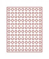 Velour insert dark red, 2901E (Ø 16,5 mm) – Bild 2