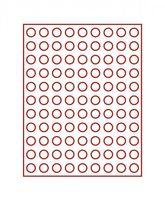 Velourseinlage, dunkelrot, mit 99 runden Vertiefungen für Münzen mit Ø19,25 mm  – Bild 2