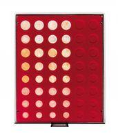 Велюровый планшет тёмно-красного цвета  2906E (для размещения комплектов монет евро)