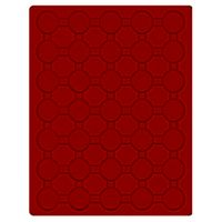 Velour insert dark red, 2930E (Ø 32 mm) – Bild 1