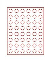 Velourseinlage, dunkelrot, mit 48 runden Vertiefungen für Münzen mit Ø24,25 mm  – Bild 2