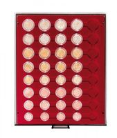 Velour insert dark red, 2906E (for 5 x EURO coin sets in coin capsules) – Bild 2