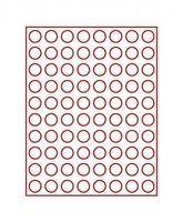 Velourseinlage, dunkelrot, mit 80 runden Vertiefungen für Münzen mit Ø22,25 mm  – Bild 2