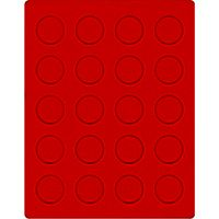 Velour insert light red, 2101E (Ø 38 mm) – Bild 1