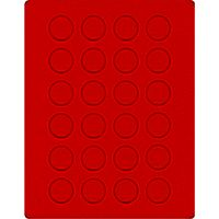 Velour insert light red, 2110E (Ø 32,5 mm) – Bild 1