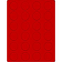 Velour insert light red, 2160E (Ø 41 mm) – Bild 1