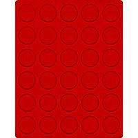 Velour insert light red, 2161E (Ø 37 mm) – Bild 1