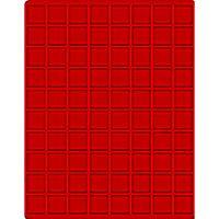 Velourseinlage, hellrot, mit 80 quadratischen Fächern für Münzen/Münzkapseln bis Ø24 mm  – Bild 1
