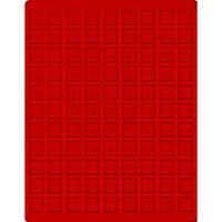 Velourseinlage, hellrot, mit 99 quadratischen Fächern für Münzen/Münzkapseln bis Ø19 mm  – Bild 1