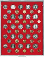 Velour insert light red, 2207E (for 5 x German Mark coin sets)