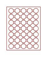 Plateau velours rouge vif à 35 alvéoles ronds pour capsules Ø ext. 36 mm  – Bild 2