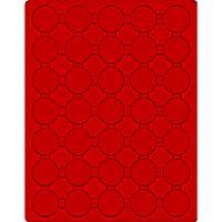 Plateau velours rouge vif à 35 alvéoles ronds pour capsules Ø ext. 36 mm  – Bild 1